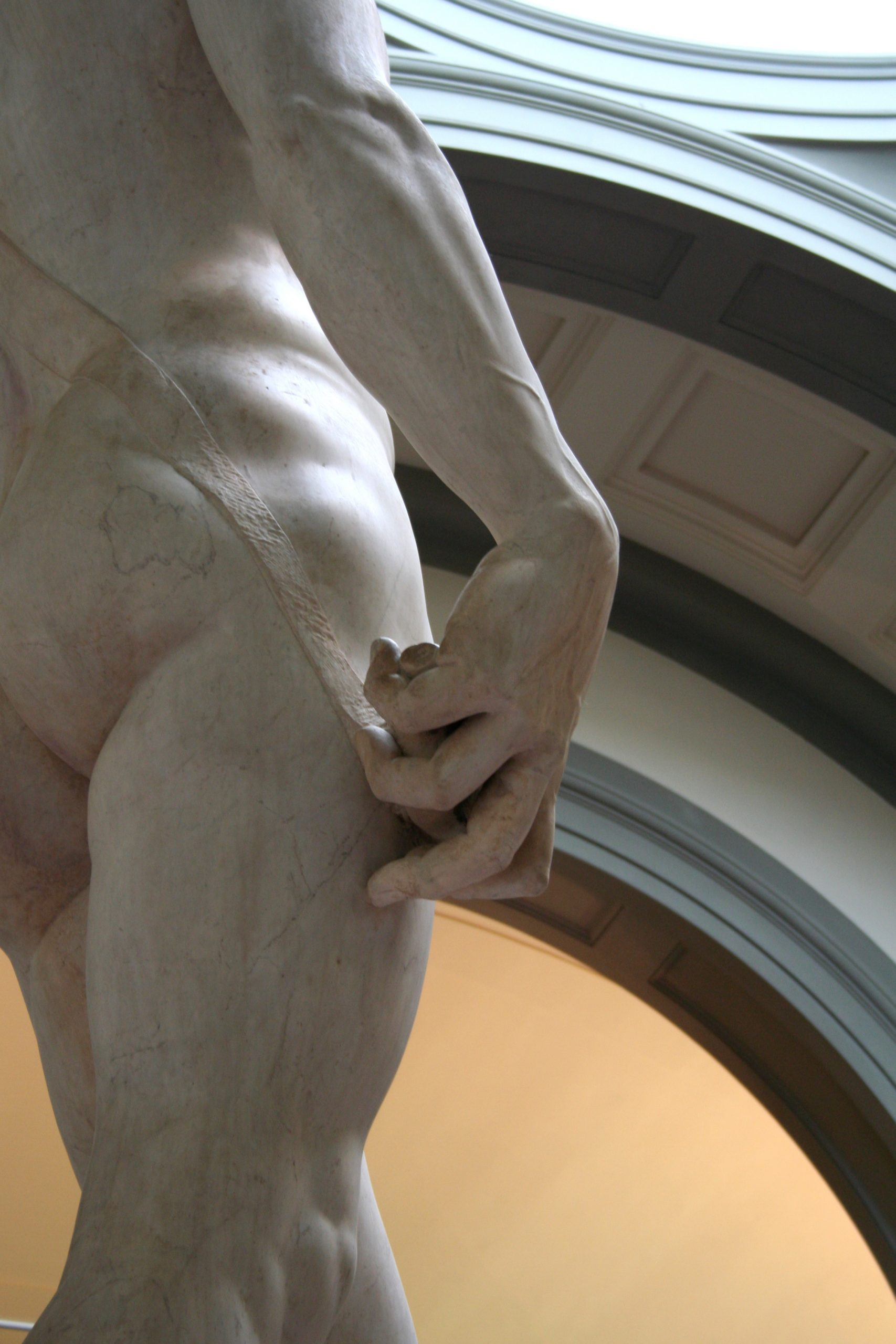 2007, Michelangelo, David (detail), Florence, Italy